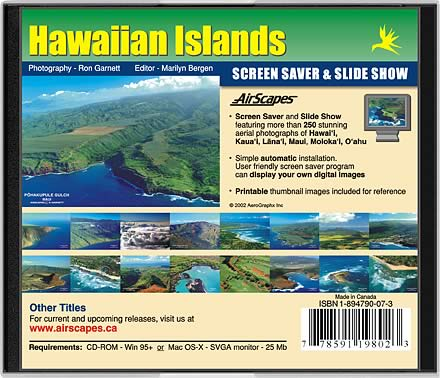 Hawaii CD-Rom Back Cover